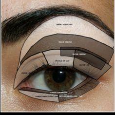 Natural looking brown make- up http://www.temptalia.com/tutorial-reference-eye-diagram-parts-of-the-eye-basic-eye-makeup
