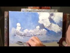 ▶ James Pratt Online Palette Knife Painting Academy, FREE Painting Basic Skies and Clouds - YouTube