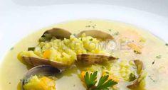 Arroz con chirlas y bacalao del restaurante Casa Rivero en Mondariz-Balneario, Pontevedra.