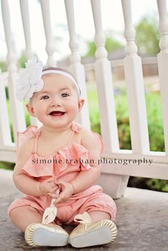 I've been doing monthly photo shoots on each of Amelia's month birthdays. This would be fun for her half birthday maybe.