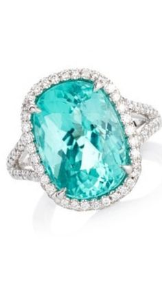 Sutra 18K White Gold, Paraiba Tourmaline and White Diamonds