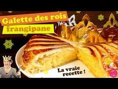 Recette de la galette des rois traditionnelle à la frangipane (un mélange de crème pâtissière et de crème d'amande).