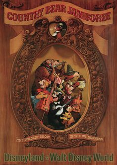RUMOR: Disney World to Replace Country Bear Jamboree with Toy Story Marionette Show for Magic Kingdom's Anniversary - WDW News Today Vintage Disney Posters, Retro Disney, Vintage Disneyland, Disney Love, Disney Stuff, Vintage Mickey, Disneyland History, Disney Sign, Punk Disney