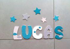 décoration prénom lettres en bois - lettres taille 14 cm : Décoration pour enfants par titemimibois