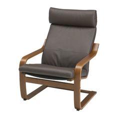 POÄNG Chair - Glose dark brown, medium brown - IKEA