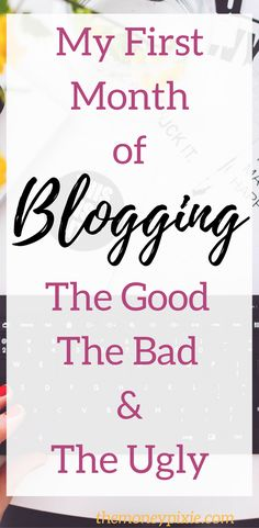 Are you wondering how to start a blog or looking for blogging tips for beginners? Here's what my first month of blogging was like. Hopefully, you can learn from my successes and failures. Read on now.