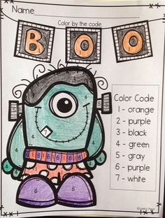 FREE Halloween Color by Number. Have a happy Halloween!