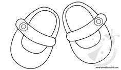 SAGOME SCARPETTE NEONATI Sagome ideali per realizzare biglietti e decorazioni per nascita bambina o bambino.