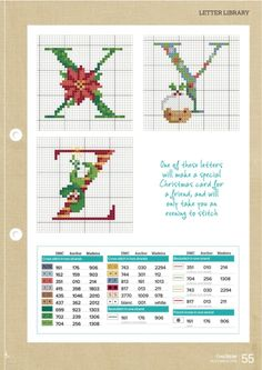 Gallery.ru / Фото #51 - CrossStitcher 311 - tymannost Christmas Cross Stitch Alphabet, Xmas Cross Stitch, Cross Stitch Letters, Cross Stitch Love, Cross Stitching, Needlepoint Patterns, Counted Cross Stitch Patterns, Cross Stitch Charts, Cross Stitch Designs