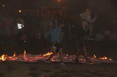 jumping over a fire, highjump.