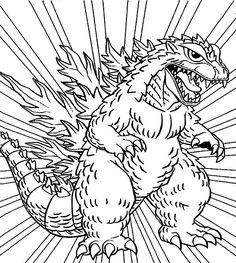 Godzilla Coloring Pages Http Fullcoloring Com Godzilla