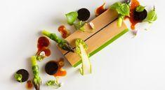 Foie gras and asparagus at Eleven Madison Park
