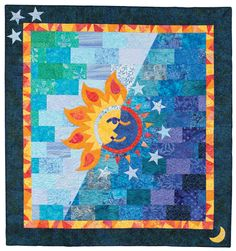 Night and Day quilt, in:  Quilt Batik by Cheryl Brown