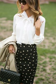Classic bow blouses are  trendy in a very big, very cool way with a youthful  touch. A little zest never killed nobody :)
