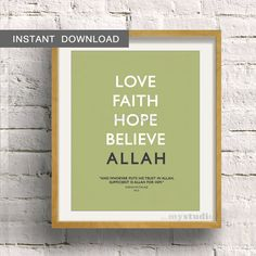 Instant Download Islamic Quranic Typography Modern by inmystudioo