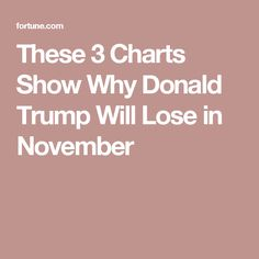 These 3 Charts Show Why Donald Trump Will Lose in November