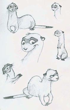 Ferret Sketch by ~Littlenlost on deviantART