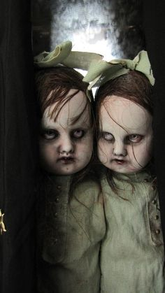 Creepy dolls, surrealism, surreal, occult, weird, scary, horror