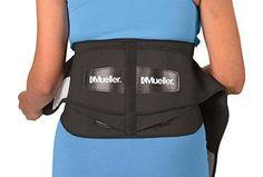 Mueller Adjustable Lumbar Back Brace, Black, Regular, 1-Count Package - http://womensoutdoorrecreationaccessories.shopping-craze.com/index.php/2016/04/27/mueller-adjustable-lumbar-back-brace-black-regular-1-count-package/