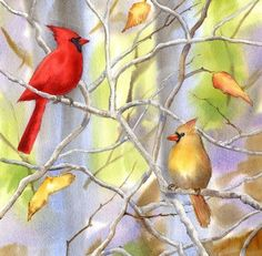 Bluebirds in the Redbud Tree - The Golden Gallery