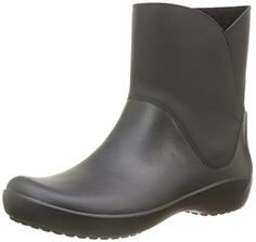 crocs Women's Rain Floe Boot, Black, 10 M US - Brought to you by Avarsha.com