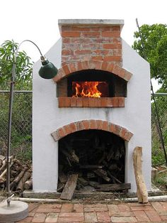 Wood fired brick pizza oven built by Kai and Bonita in tropical Caribbean paradise island of Anguilla