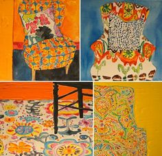 these Kate Lewis paintings remind me of a favorite children's book, A Chair for My Mother