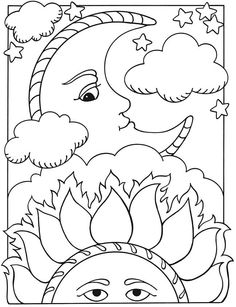 Coloring Page Sun And Moon Wiring Diagram