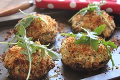 Mushrooms stuffed with Bacon, Spinach and Cream Cheese
