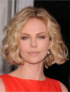 Charlize Theron's Hairstyle Medium Wavy Golden Blonde Lace Front Wig