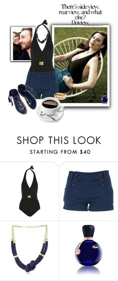 """I loview"" by sasane ❤ liked on Polyvore featuring Atwell, Melissa Odabash, Louche, Citrine by the Stones and Lacoste"