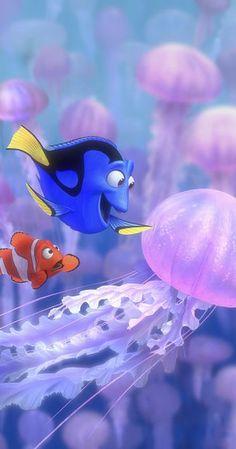 Albert Brooks and Ellen DeGeneres in Finding Nemo Disney Pixar, Film Disney, Disney Magic, Disney Art, Disney Movies, Nemo Wallpaper, Wallpaper Animes, Disney Phone Wallpaper, Iphone Background Wallpaper
