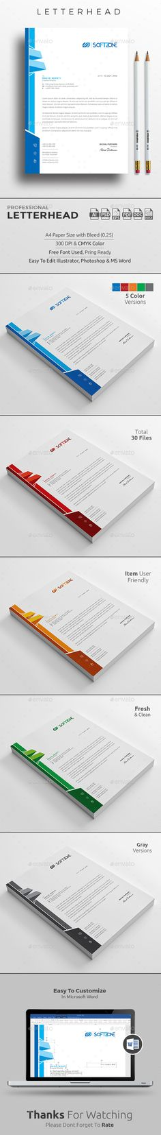 Letterhead Template Download, Editable and Letterhead template - free letterhead templates download
