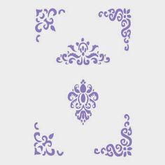Blog sobre trabajos realizados con plantillas de estarcido, stencil, para uso en decoración, manualidades, bricolage, restauración de muebles