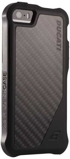 iPhone 5/5s Ducati Case, ION 5 Carbon Fiber & TPU Rugged outside for Heavy Duty Protection, Slim Fit for the Apple iPhone 5/5S - Retail Packaging (Black)