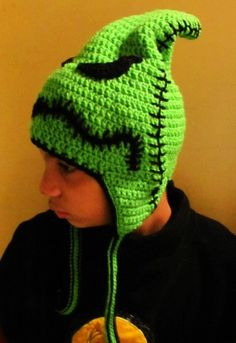 Oogie Boogie Nightmare Before Christmas Burlap Earflap Hat, all sizes | HatsandSpats - Accessories on ArtFire