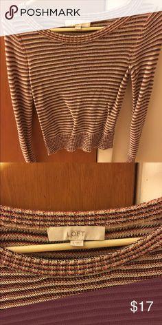 Ann Taylor LOFT women's sweater Multicolor women's knit sweater. Barely worn! Size small. Smoke free pet free home! Ann Taylor Sweaters