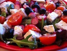 Salade de radis à la fêta.