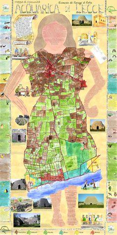 > Mappa di Comunità del Paesaggio di Acquarica di Lecce (Le)  more info: http://www.ecomuseipuglia.net/schedaMappa.php?cod=20  http://paesaggio.regione.puglia.it/images/stories/Mappe_COMUNIT/mappe_comunita_dossier.pdf
