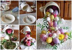 Como fazer uma Cascata de flores em xícara