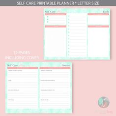 Self Care Planner Workbook 2018 Self-Care Planner Self Help