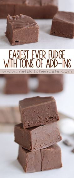 This easy homemade fudge is creamy, rich, and SO delicious, and it comes together in less than 15 minutes with tons of add-in options!