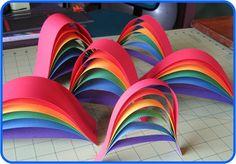 Kindergarten (1st grade? 2nd grade?) 3D rainbows!  Love these!