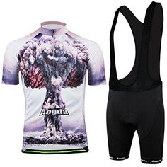 Xinzechen Cycling Jersey Bib Shorts Set Short Sleeve Atomic Bomb Size M     Find out more at the image link. 7eadf02dd