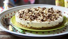 Cheesecake w/ malted milk balls - half cream cheese, half mascarpone