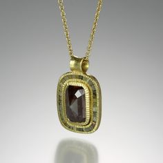 Rosecut and raw diamond necklace by Todd Reed at quadrumgallery.com