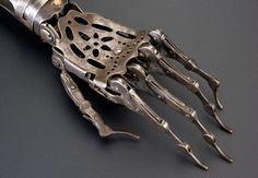 Made of steel and brass, this late 19th century artificial limb dating back to Victorian England looks menacingly creepy.