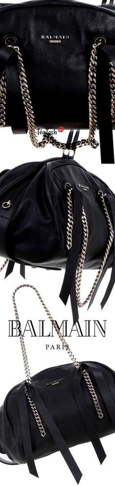 a96175836cd Balmain, Moon leather bowling bag #Balmain #teatosh #bags #bag #handbag