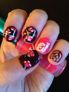 Roses on nails