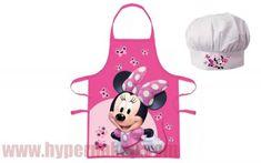 Detská pracovná zástera a kuchárska čiapka Disney Minnie Apron, Disney, Aprons, Disney Art